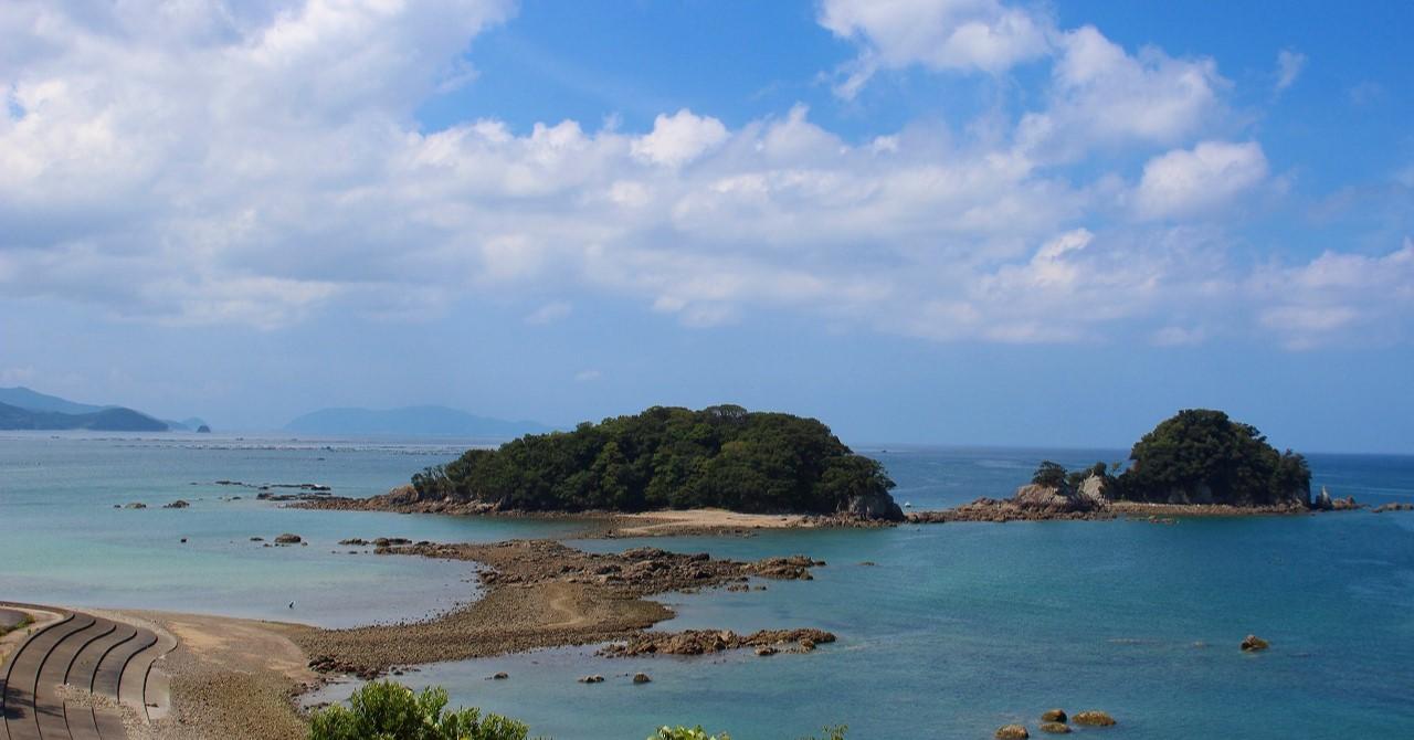 宿毛湾に浮かぶ無人島、咸陽島。