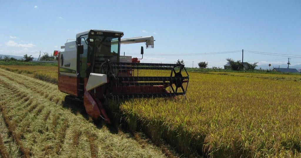 「日本の米づくり百選の地」に選定された道内有数の米どころです
