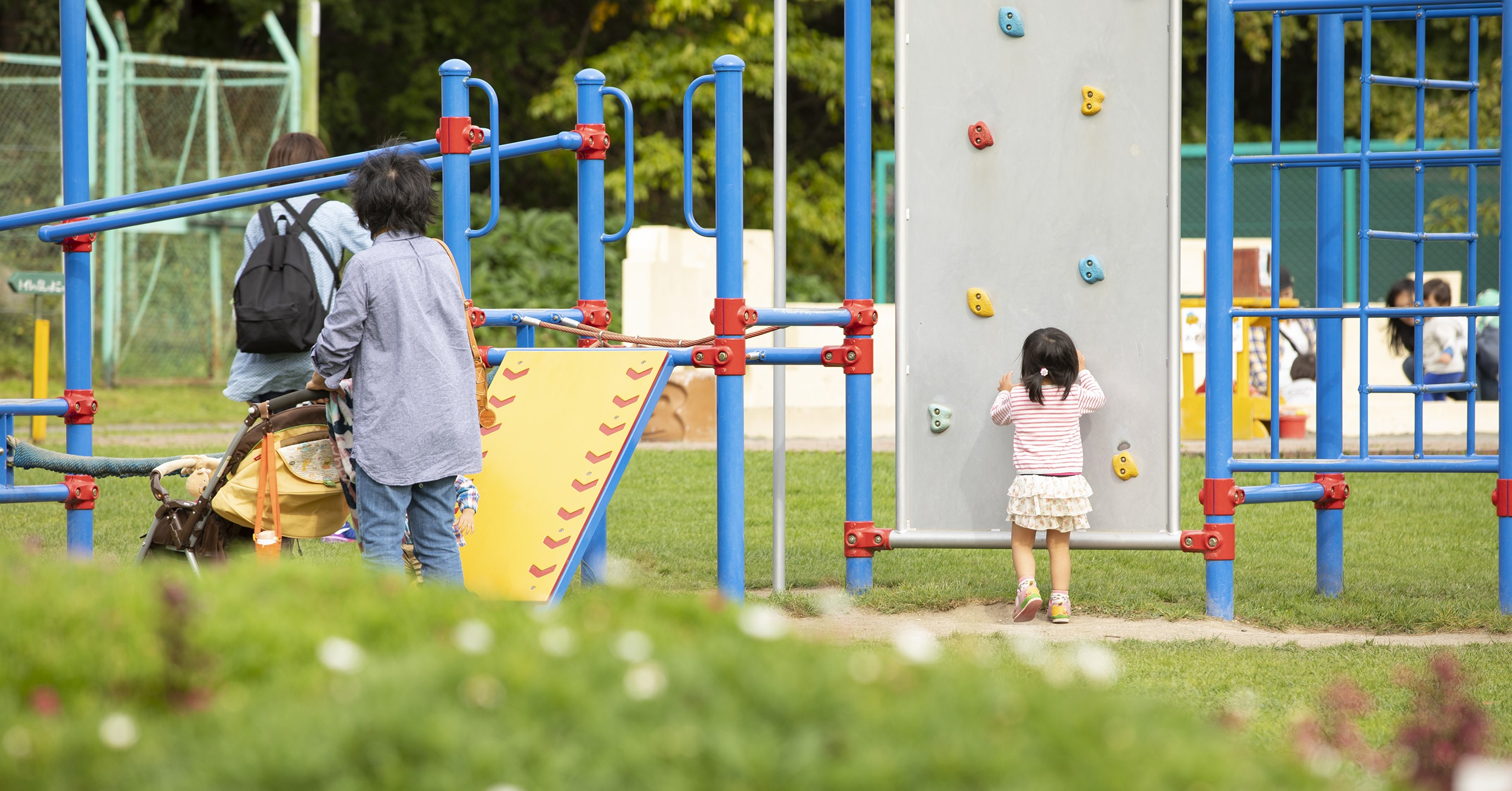 家族連れが多く訪れる栗山公園。キャンプ場やバーベキューコーナーも併設。