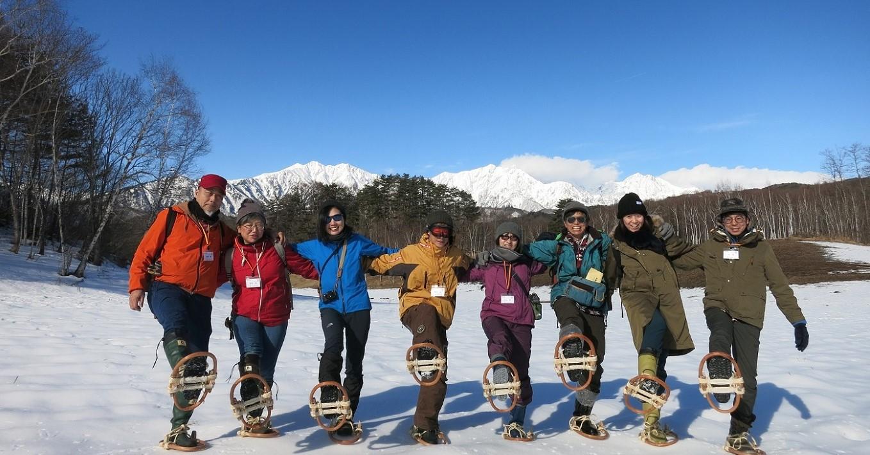 冬ツアー雪遊びの様子