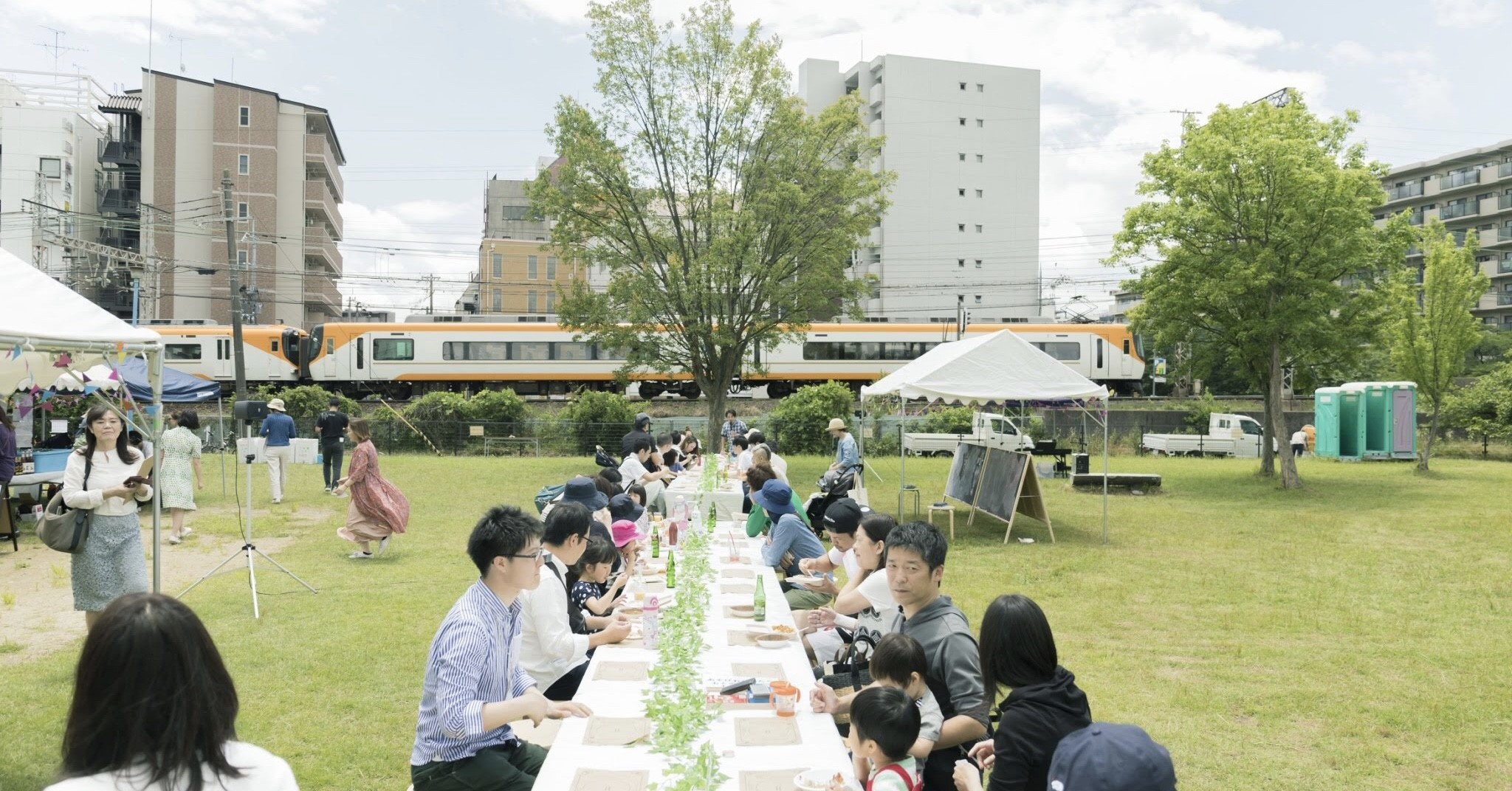 公園や商店街、駅前広場など、いろいろな場所でユニークなイベントが開催!