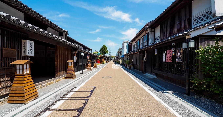城下町津山の面影が残る、風情ある町並み
