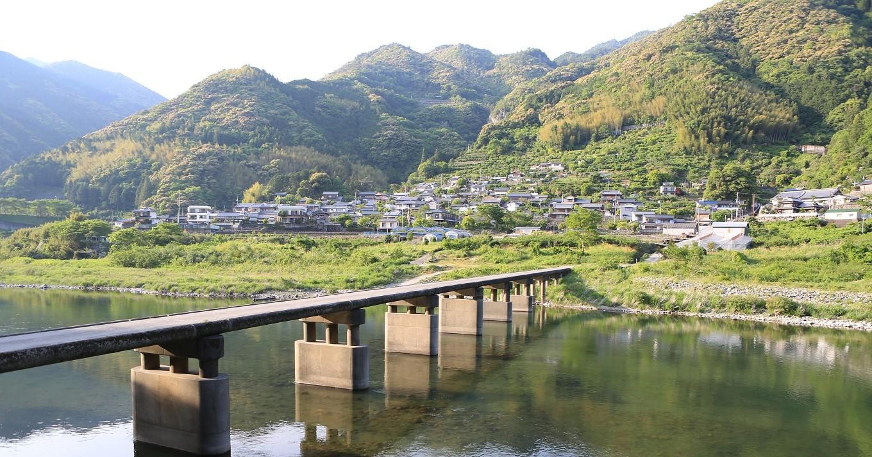 鎌井田地区と浅尾沈下橋