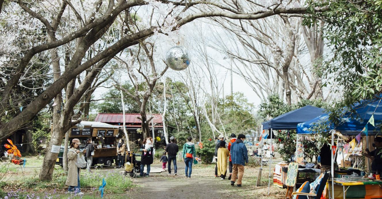 雑木林を使って森めぐりイベントが開催された時の写真です。