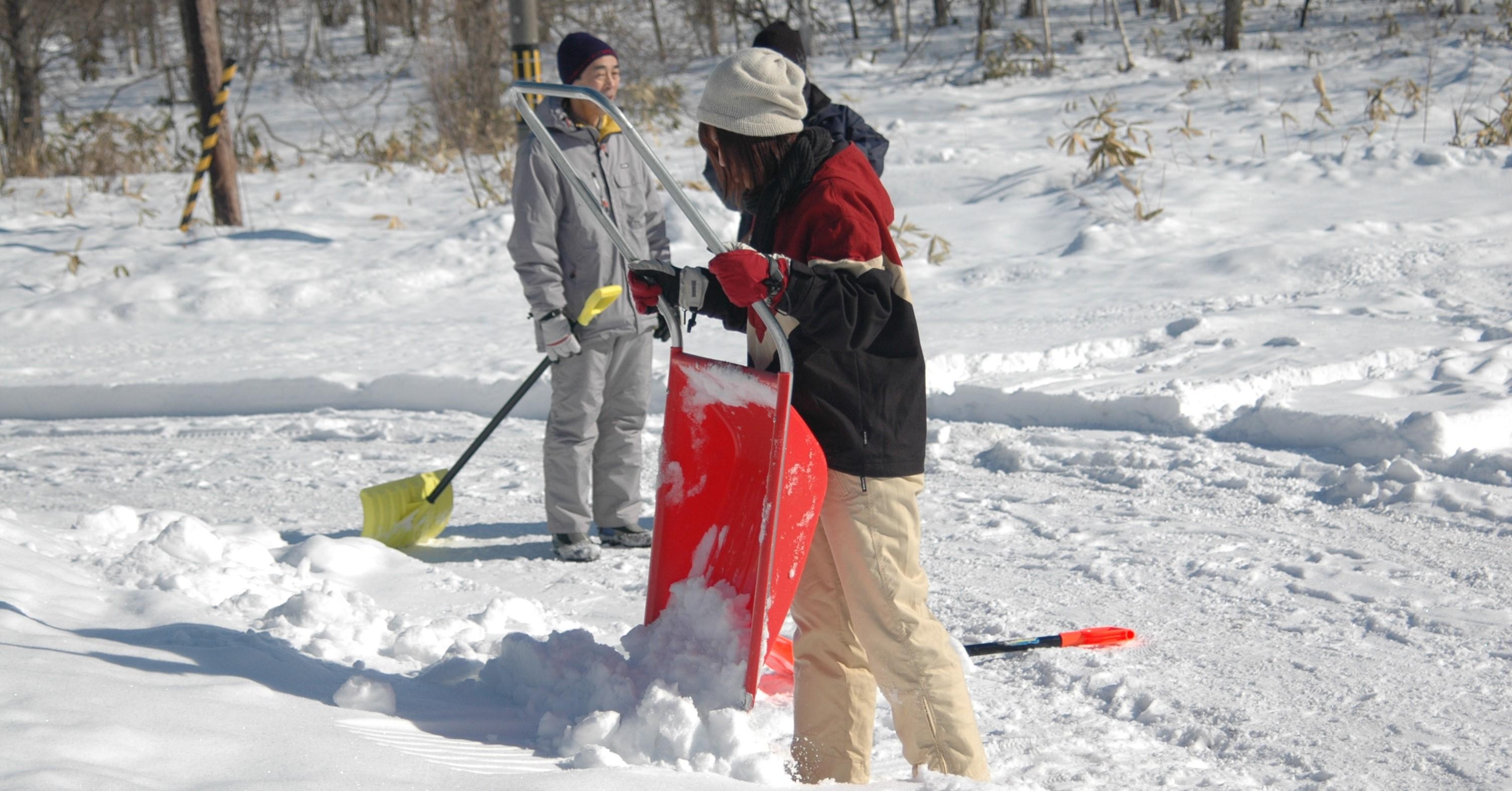 除雪を体験することもできます