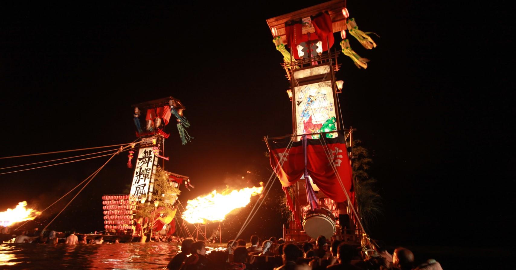 古くから伝わる文化のキリコ祭り。