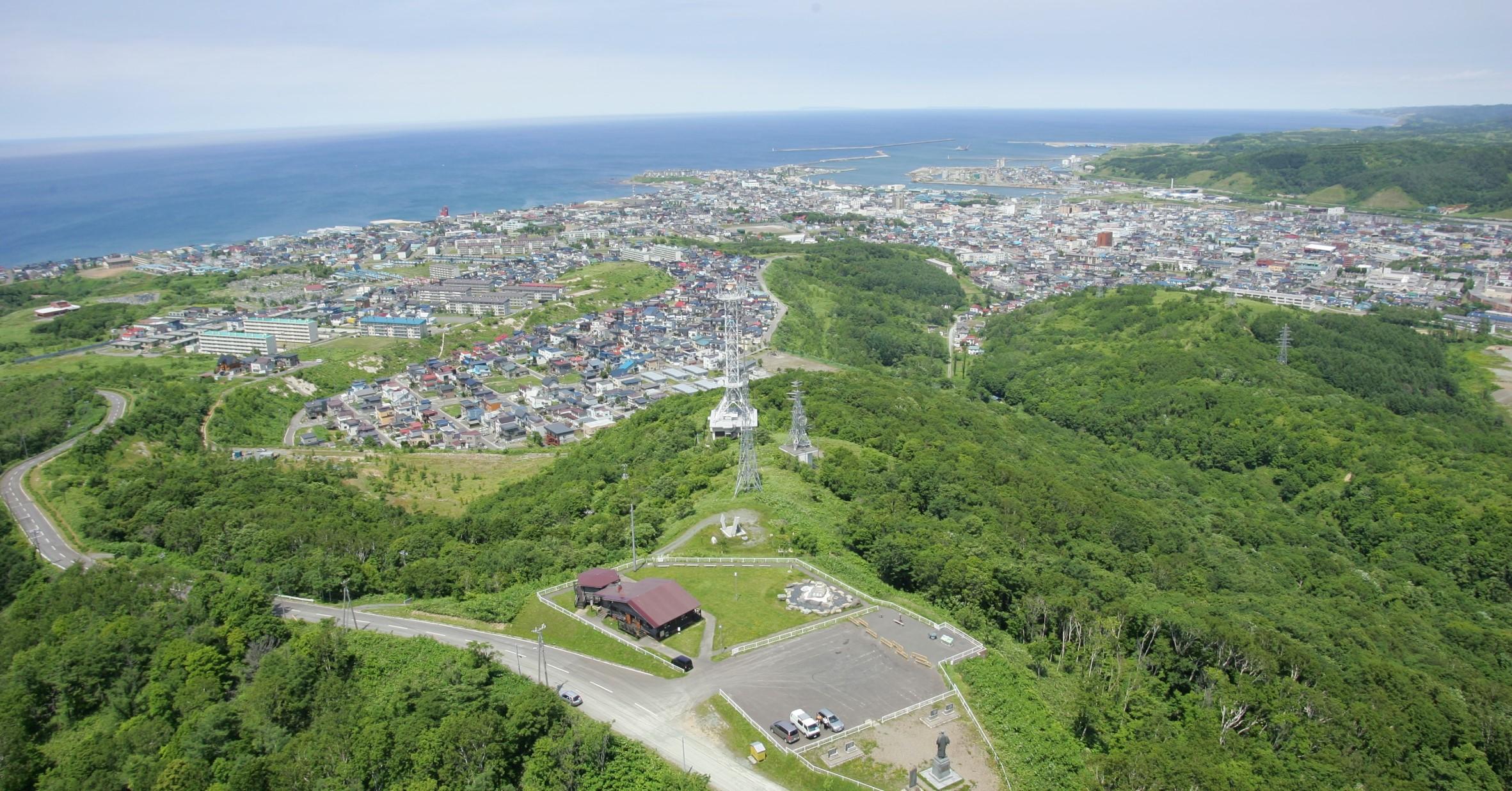 日本海に面する留萌市