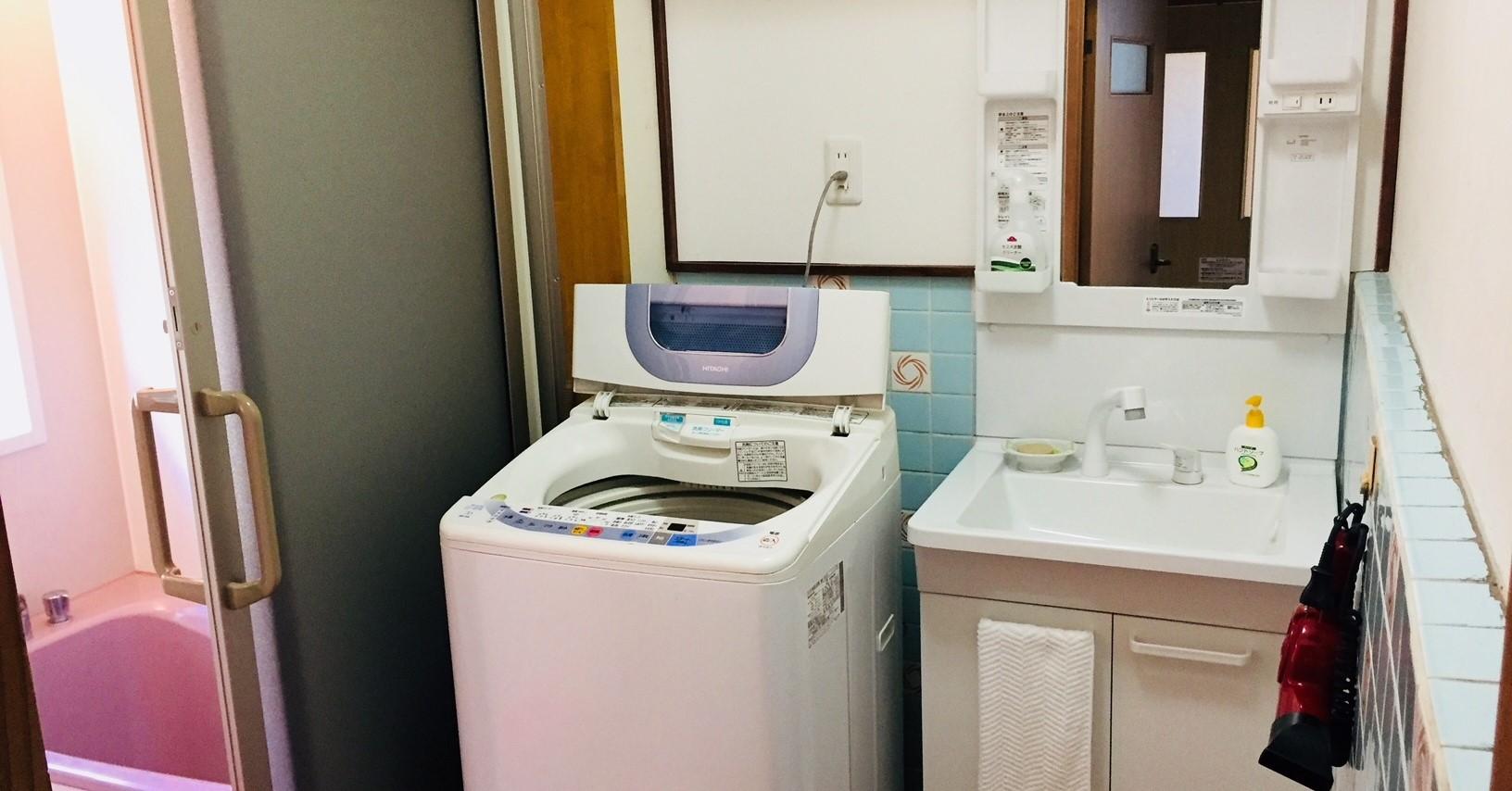 洗濯して、お風呂でくつろいで…日常と同じ生活ができます。